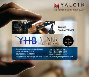 Avukat Şeffaf Kartvizit YM-1042