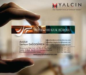 Avukat Şeffaf Kartvizit YM-1047