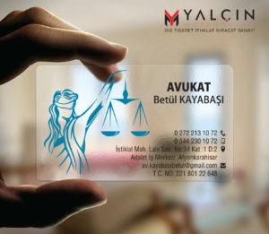 Avukat Şeffaf Kartvizit YM-1055