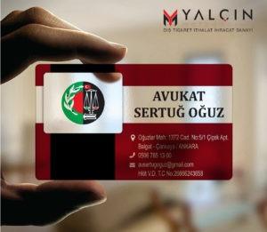 Avukat Şeffaf Kartvizit YM-1058