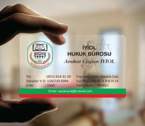 Avukat Şeffaf Kartvizit YM-1066