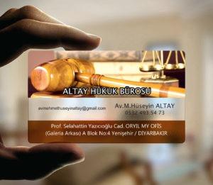Avukat Şeffaf Kartvizit YM-1077