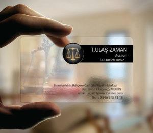 Avukat Şeffaf Kartvizit YM-1079