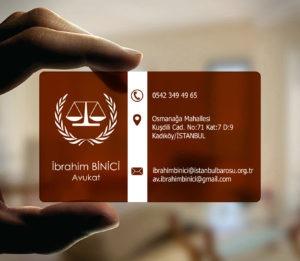 Avukat Şeffaf Kartvizit YM-1081