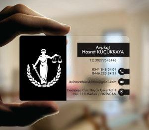 Avukat Şeffaf Kartvizit YM-1082