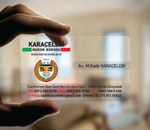 Avukat Şeffaf Kartvizit YM-1083