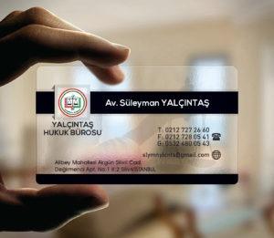 Avukat Şeffaf Kartvizit YM-1090