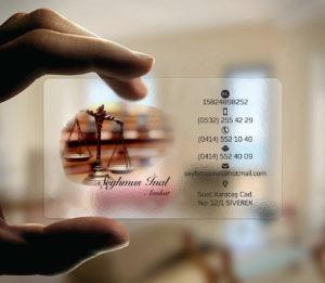 Avukat Şeffaf Kartvizit YM-1098