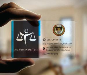 Avukat Şeffaf Kartvizit YM-1099