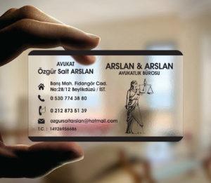 Avukat Şeffaf Kartvizit YM-1104