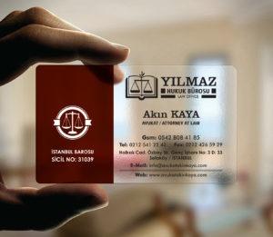 Avukat Şeffaf Kartvizit YM-1105